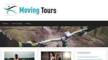 Page d'accueil du site : Moving Tours