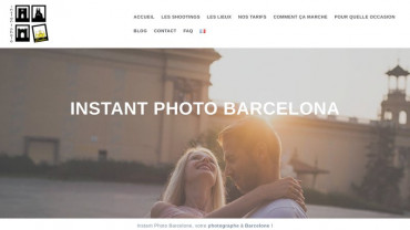 Page d'accueil du site : Instant Photo Barcelona