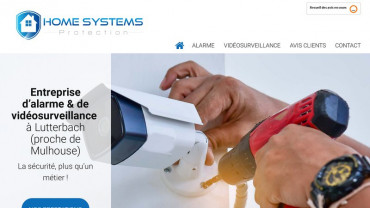 Page d'accueil du site : Home Systems Protection