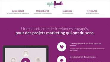 Page d'accueil du site : UpToYouth