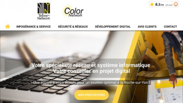 Page d'accueil du site : Yellow Network