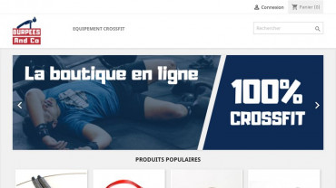 Page d'accueil du site : Burpees and Co