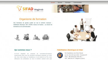 Page d'accueil du site : SIFAD Maghreb