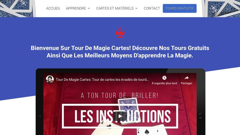Tour de magie cartes