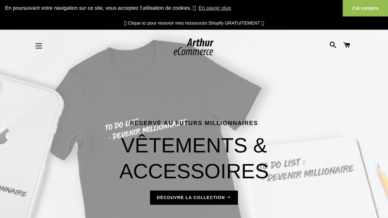 Arthur e-commerce