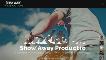 Page d'accueil du site : Show Away Production