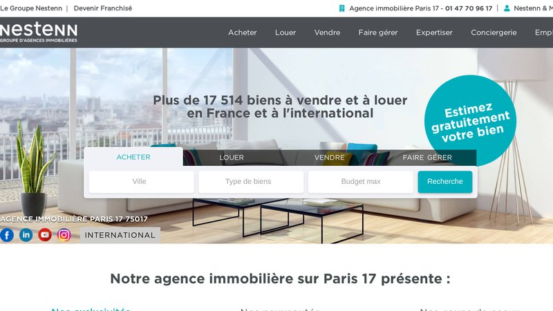 Nestenn Immobilier Paris 17