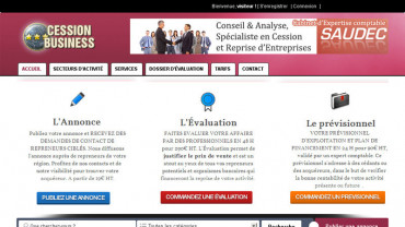 Page d'accueil du site : Cession Business