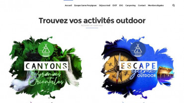 Page d'accueil du site : Adventure Training Camp