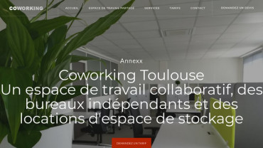 Page d'accueil du site : Toulouse Coworking Space
