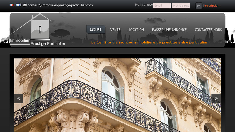 Immobilier prestige particulier