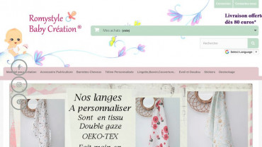 Page d'accueil du site : Romystyle Baby Création
