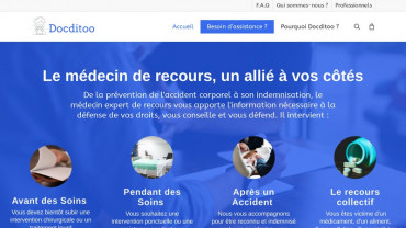 Page d'accueil du site : Docditoo