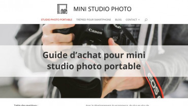 Page d'accueil du site : Mini Studio Photo