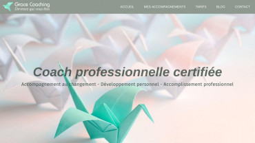 Page d'accueil du site : Grace Coaching
