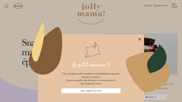 Page d'accueil du site : Jolly Mama