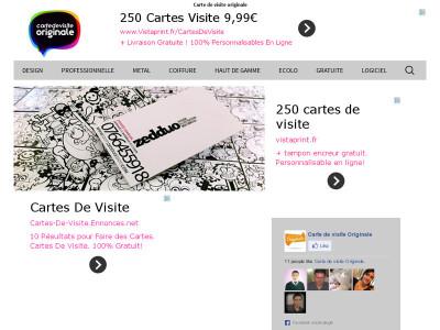 Page Daccueil Du Site Cartes De Visite Originale