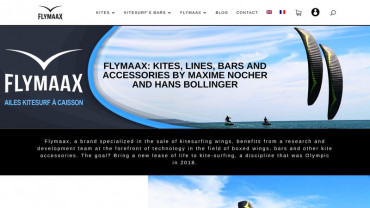 Page d'accueil du site : Flymaax