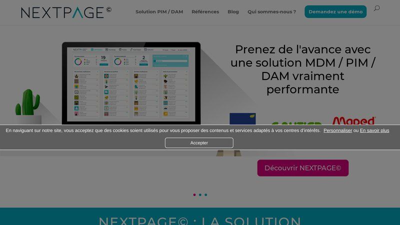 Nextpage : solution pim pour industrie