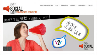 Page d'accueil du site : Easy Social Media