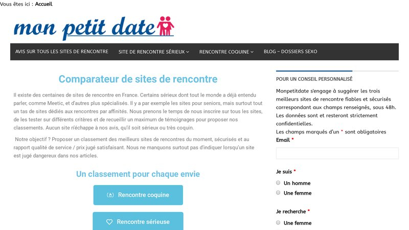 Comparateur de sites de rencontre