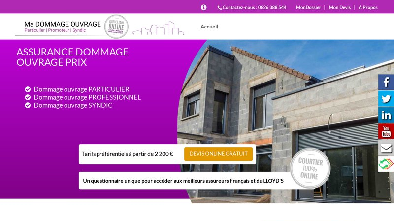 Assurance Dommage Ouvrage Prix