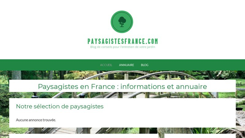 Paysagiste France