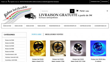 Page d'accueil du site : Ruban LED flexible