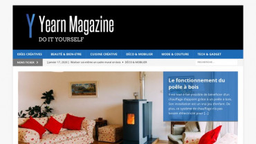 Page d'accueil du site : Yearn Magazine