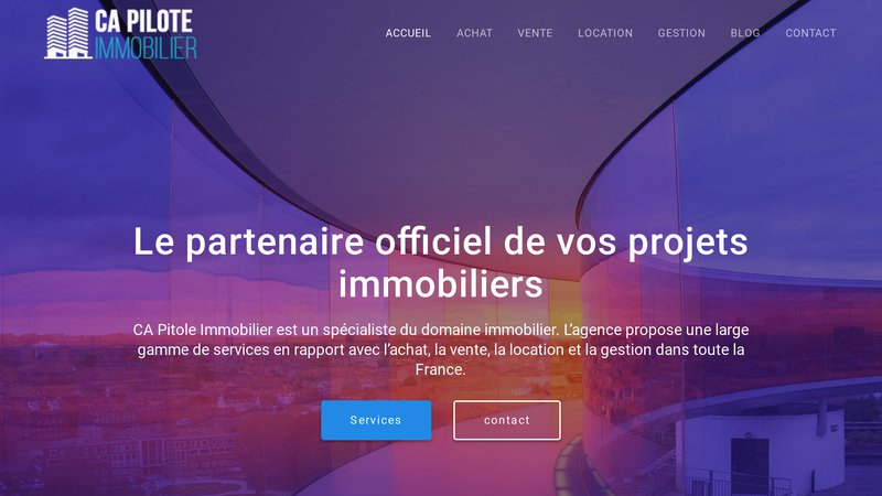 CA Pilote Immobilier