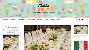 Page d'accueil du site : CharlieBirdy