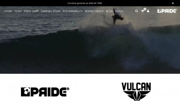 Page d'accueil du site : Pride Bodyboards