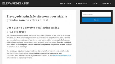 Page d'accueil du site : Elevagedelapin