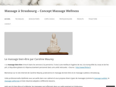 Page d'accueil du site : Concept Massage Wellness
