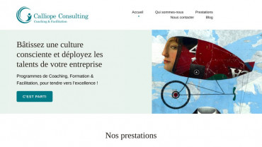 Page d'accueil du site : Calliope Consulting