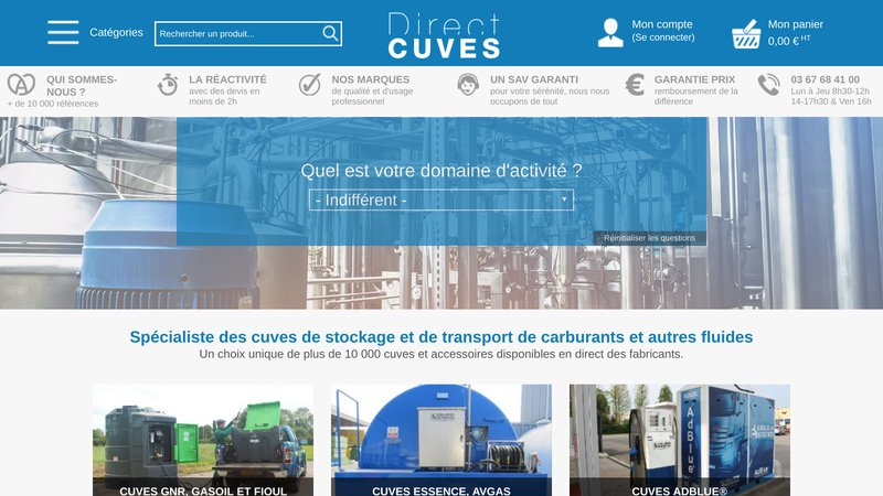 Direct-cuves
