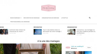 Page d'accueil du site : Oh My Wedding