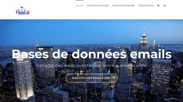 Page d'accueil du site : Business email data base