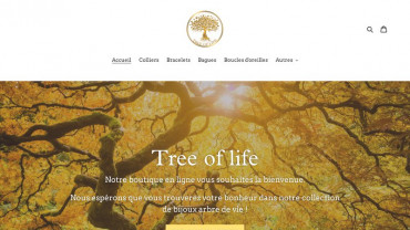 Page d'accueil du site : Tree of Life