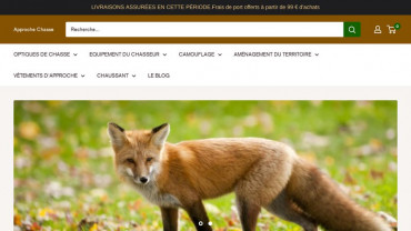 Page d'accueil du site : Approche Chasse