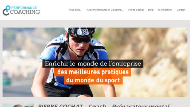 Page d'accueil du site : Performance et Coaching