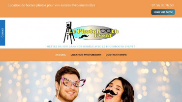 Page d'accueil du site : Le Photobooth Event