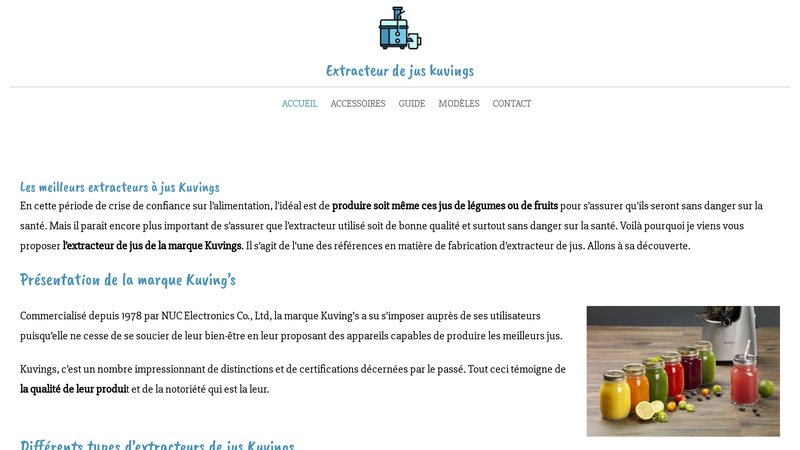 Extracteur de jus Kuvings