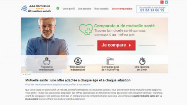 Page d'accueil du site : AAA Mutuelle