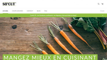 Page d'accueil du site : So'Cut