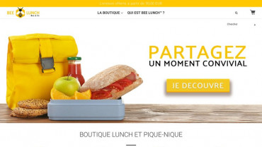 Page d'accueil du site : Bee lunch