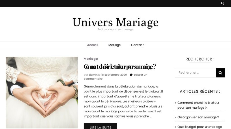 Univers Mariage