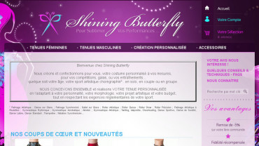 Page d'accueil du site : Shining Butterfly
