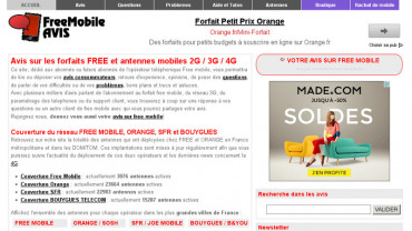 Page d'accueil du site : Mobile Users