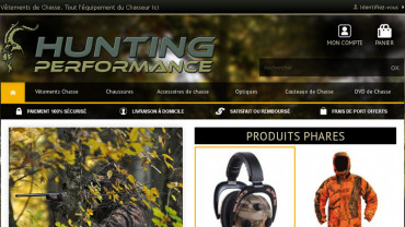 Page d'accueil du site : Hunting Performance